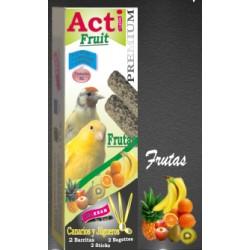2 Barritas Acti Fruit de 55 gr cada una Canarios y Jilgueros