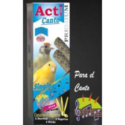 2 Barritas Acti Canto de 55 gr cada una Canarios y Jilgueros