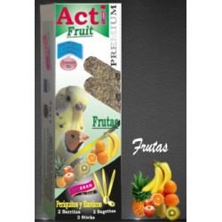 2 Barritas Acti Fruit de 55 gr cada una Periquito y Exótico