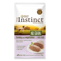 True instinct Natures variety Wid No Grain Pate mini pavo 150 grs