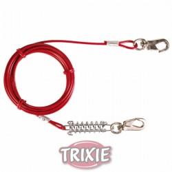 Cable plastificado con muelle Rojo