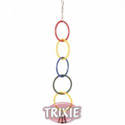 Anillos olímpicos con cadena y campana
