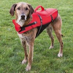 Chaleco Salvavidas para Perros Rojo/Negro