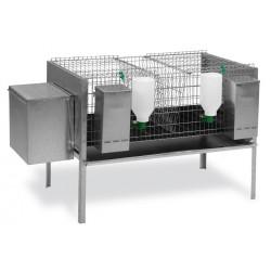 Jaula Conejos Modelo Europa 1 Nido, 1 Departamento