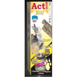 2 Barritas Acti Miel de 55 gr cada una Roedores