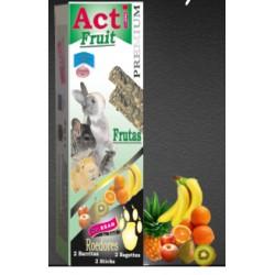 2 Barritas Acti Fruit de 55 gr cada una Roedores