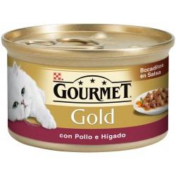 GOURMET GOLD Bocaditos en Salsa con Pollo e Hígado